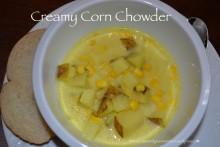 Creamy Corn Chowder | cleanandgreennutrition.wordpress.com