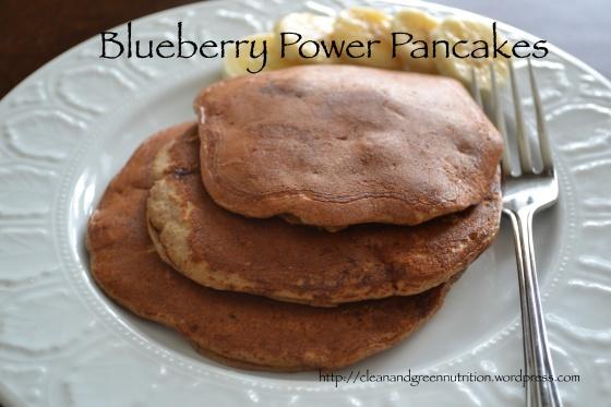Blueberry Power Pancakes