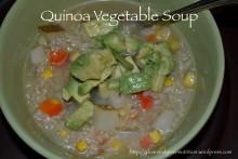 Quinoa Vegetable Soup | cleanandgreennutrition.wordpress.com
