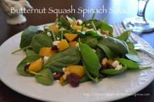 Butternut Squash Spinach Salad