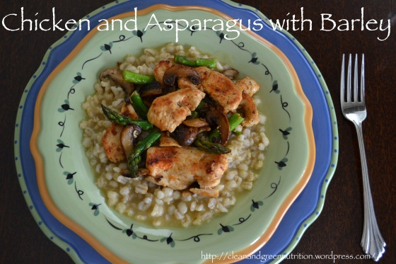 Chicken and Asparagus with Barley