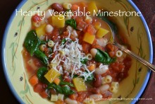Hearty Vegetable Minestrone | cleanandgreennutrition.wordpress.com