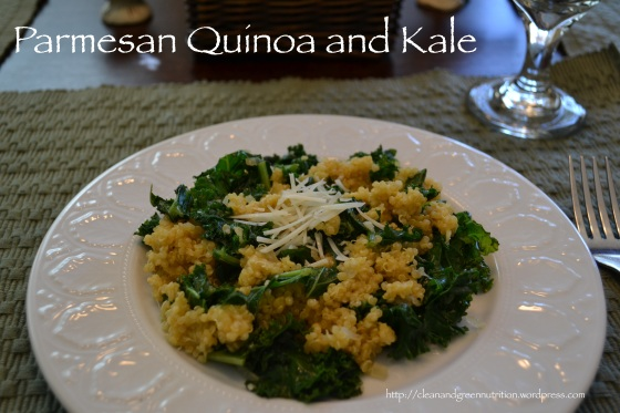 Parmesan Quinoa and Kale
