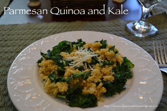 Parmesan Quinoa and Kale