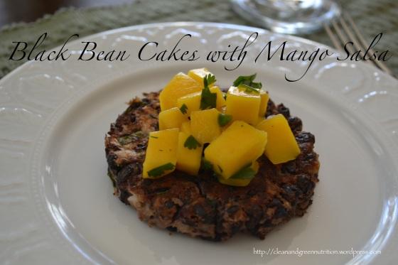 Black Bean Cakes with Mango Salsa