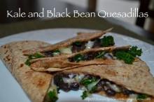 Kale and Black Bean Quesadillas