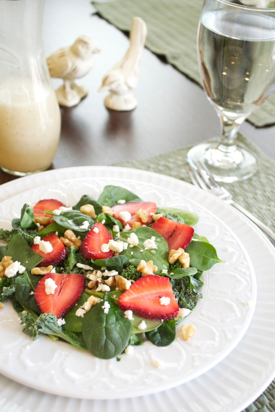 Spinach and Kale Spring Salad