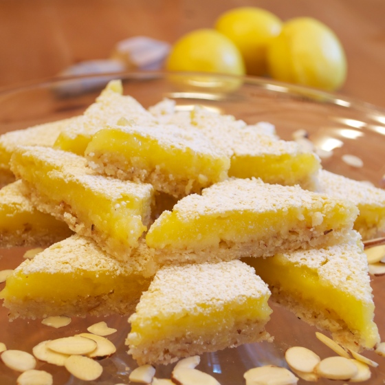 Lemon Bars Almond Crust